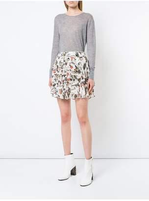 Jason Wu Grey By Painterly Floral Print Ruffle Mini Skirt