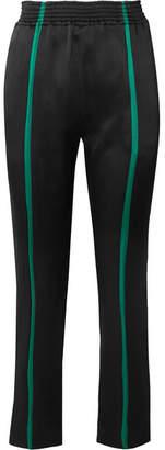 Haider Ackermann Striped Satin Straight-leg Pants - Black