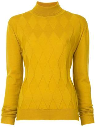 Zambesi diamond textured turtleneck sweater