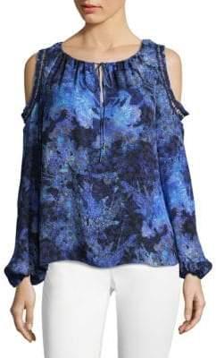 Elie Tahari Cathy Printed Silk Blouse