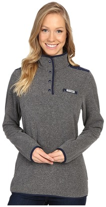 Columbia Harborside Overlay Fleece Pullover $70 thestylecure.com