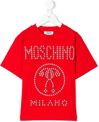 Moschino Kids studded logo T-shirt
