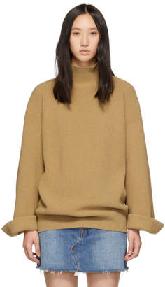 A.P.C. Brown Big Pullover Turtleneck
