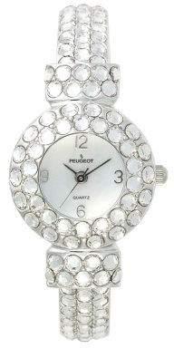 Peugeot Ladies Full Crystal Bangle Watch