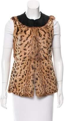 Pologeorgis Printed Fur Vest