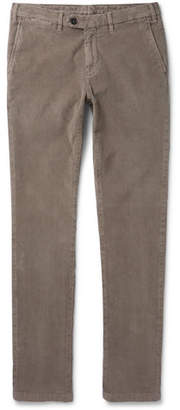 Canali Slim-fit Stretch-cotton Corduroy Trousers - Beige