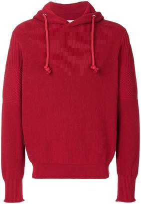 Maison Margiela knitted hooded sweatshirt