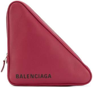 Balenciaga triangle medium clutch bag