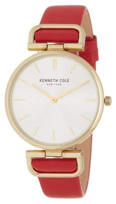Kenneth Cole New York Women's Leather Strap Watch, 36mm