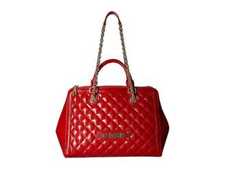 Love Moschino Shiny Quilted Handbag with Chain Strap