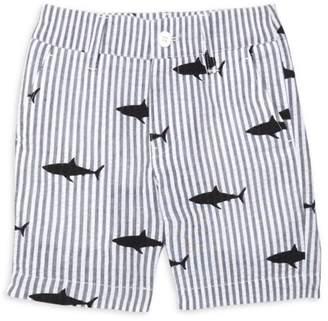 Appaman Little Boy's & Boy's Shark Print Seersucker Shorts