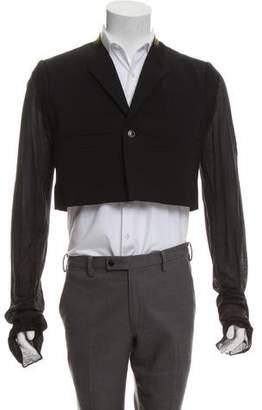 Rick Owens Cropped Virgin Wool Jacket