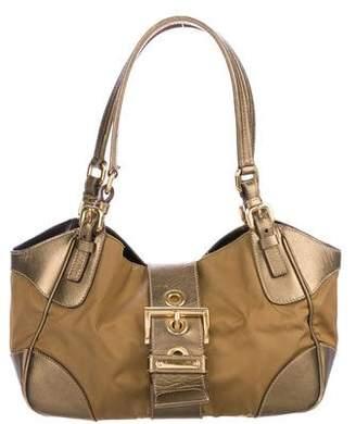Prada Saffiano-Trimmed Tessuto Shoulder Bag