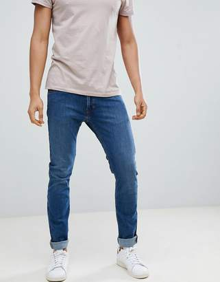 Lee Jeans Luke Skinny Jeans in Mid Used Blue