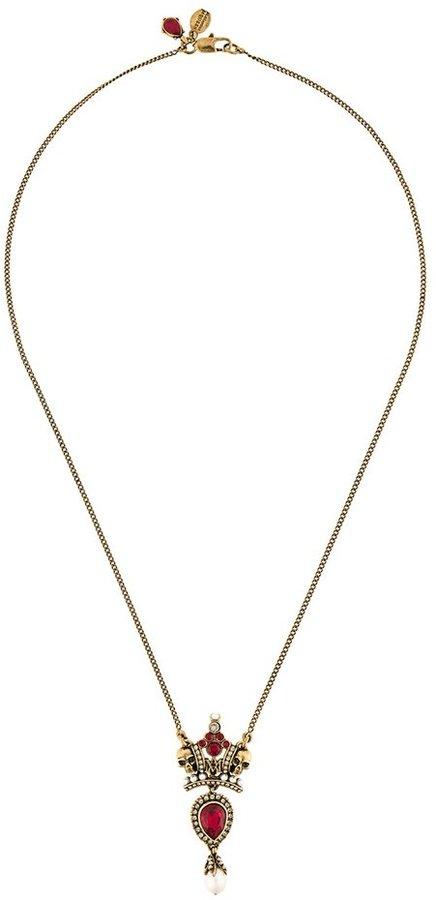 Alexander McQueenAlexander McQueen crown skull necklace
