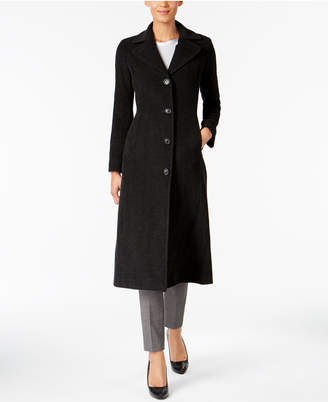 Anne Klein Maxi Walker Wool-Cashmere Blend Coat