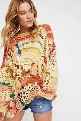 Sherbert Crochet Pullover