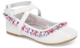 WELLIEWISHERS BY AMERICAN GIRL Kendall Ruffle Ballet Flat (Toddler)