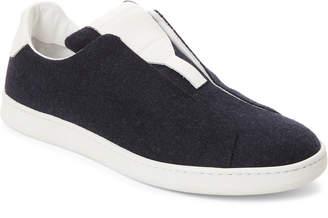 Marc Jacobs Navy & White Slip-On Sneakers