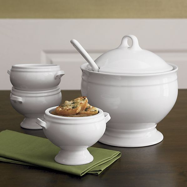 Crate & Barrel Footed Soup Tureen