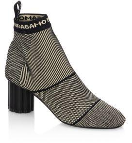 Salvatore Ferragamo Capo Alpaca Booties $695 thestylecure.com