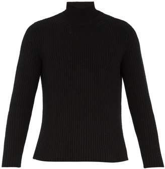 Valentino Roll-neck ribbed-knit cashmere sweater