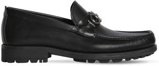 Salvatore Ferragamo David Logo Leather Loafers