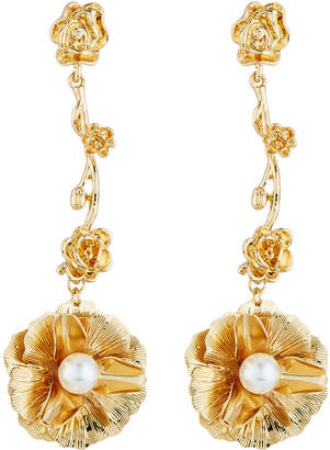 Fragments for Neiman Marcus Flower & Pearly Dangle Earrings