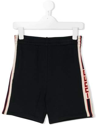 Gucci Kids logo stripe shorts