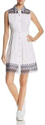 Elie Tahari Samiya Sleeveless Lace-Trim Shirt Dress - 100% Exclusive