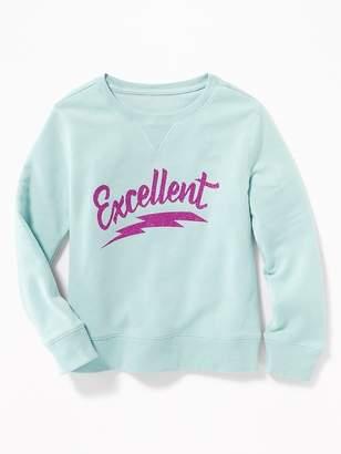 Old Navy Relaxed Graphic Fleece Sweatshirt for Girls