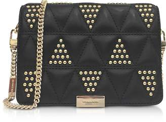 Michael Kors Jade Studded Quilted-Leather Clutch