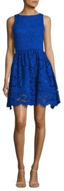 Alice + Olivia Ginger Lace Fit-&-Flare Dress $395 thestylecure.com
