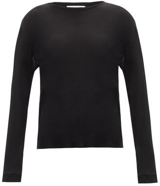 Frances De Lourdes - Marlon Round Neck Cashmere And Silk Blend T Shirt - Womens - Black