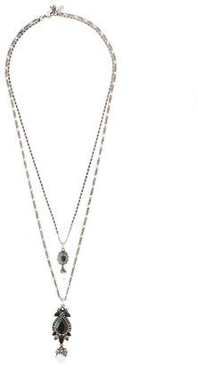 Alexander McQueen double pendant necklace