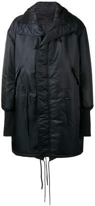 Y-3 oversized midi coat