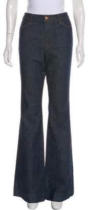 J Brand Mid-Rise Wide-Leg Pants Jeans