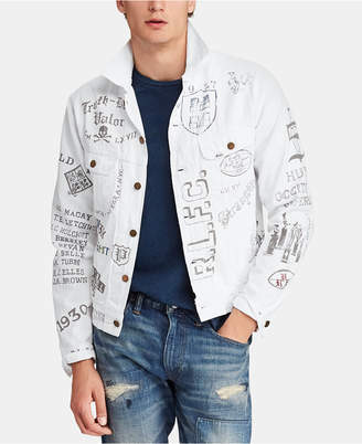 Polo Ralph Lauren Men Graphic Cotton Denim Trucker Jacket