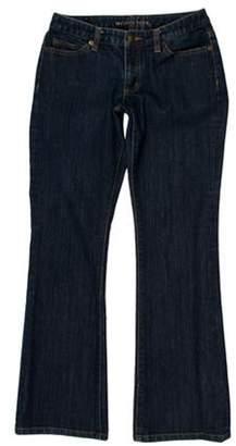 Michael Kors Low-Rise Straight-Leg Jeans blue Low-Rise Straight-Leg Jeans