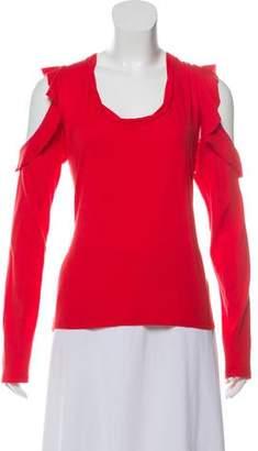 Pam & Gela Knit Cold Shoulder Top w/ Tags
