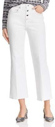 Rag & Bone Justine High-Rise Cropped Wide-Leg Jeans in White