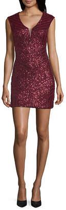 HAUTE NITES Haute Nites Sleeveless Bodycon Dress-Juniors