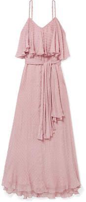 Mes Demoiselles Donatella Fil Coupe Georgette Maxi Dress - Lilac