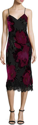 Trina Turk Cabaret Sleeveless Floral Midi Dress, Black $398 thestylecure.com
