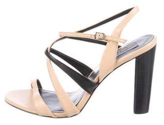 Calvin Klein Collection Crossover Leather Sandals
