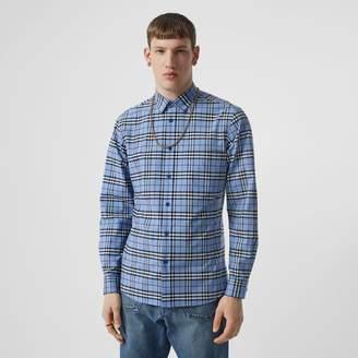 Burberry Vintage Check Stretch Cotton Poplin Shirt