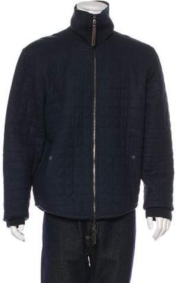 John Varvatos Quilted Wool Jacket