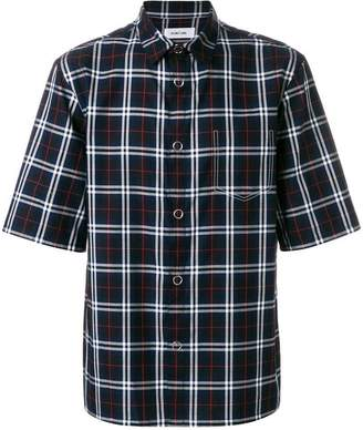 Helmut Lang plaid short sleeve shirt