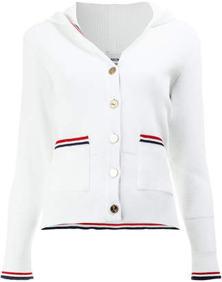Thom Browne hooded buttoned cardigan