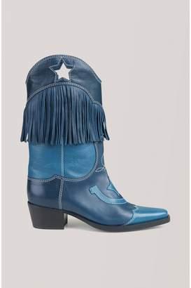 Ganni Texas Fringes Boots